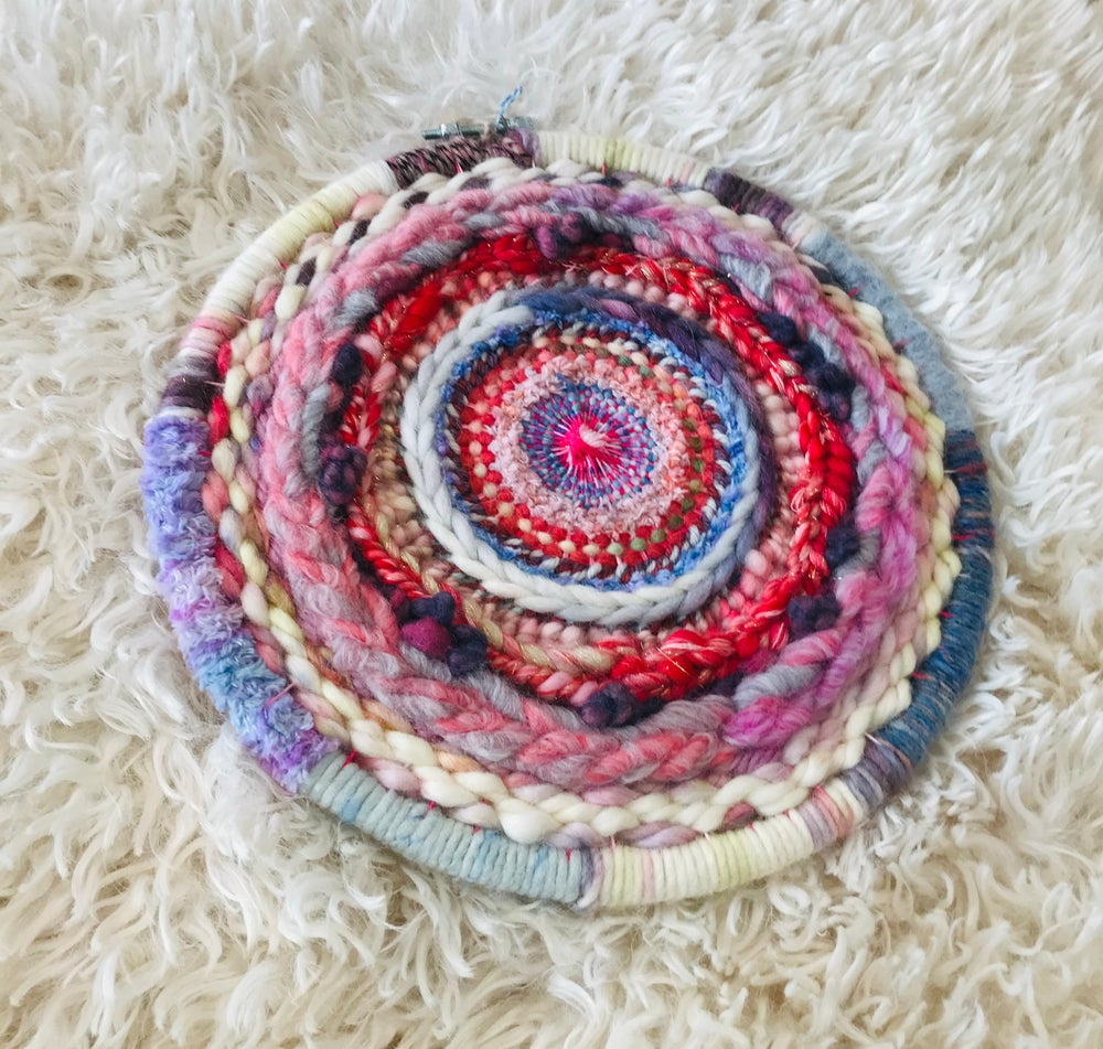 A Pop of Pink Circular Weaving