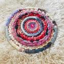 A Pop of Pink Circular Weaving