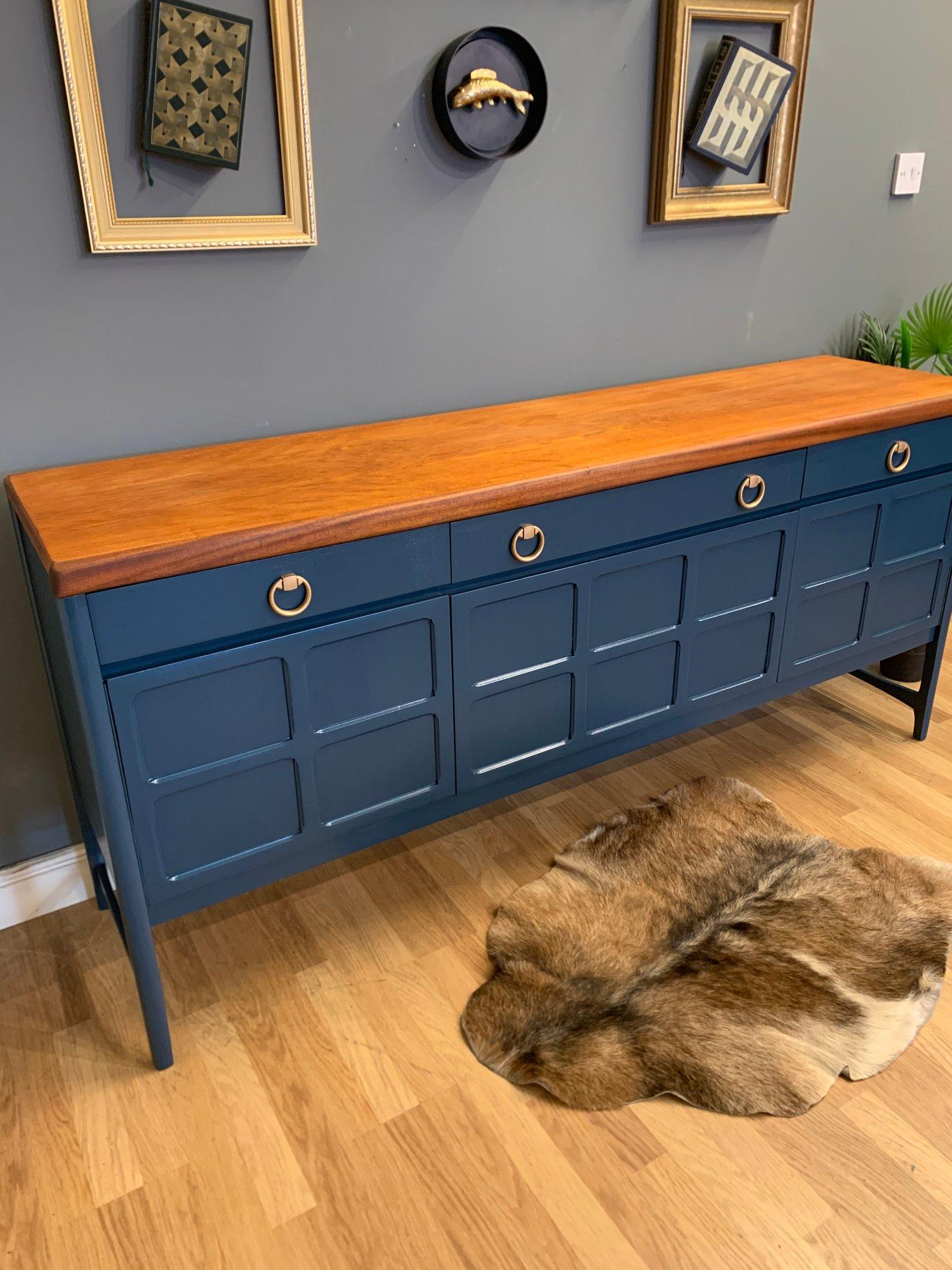 Image of Hauge blue Nathan teak sideboard