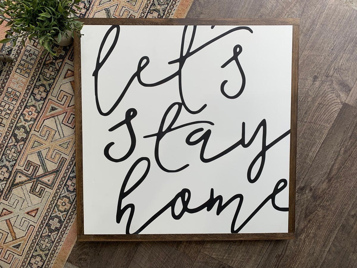 Image of Let's stay home