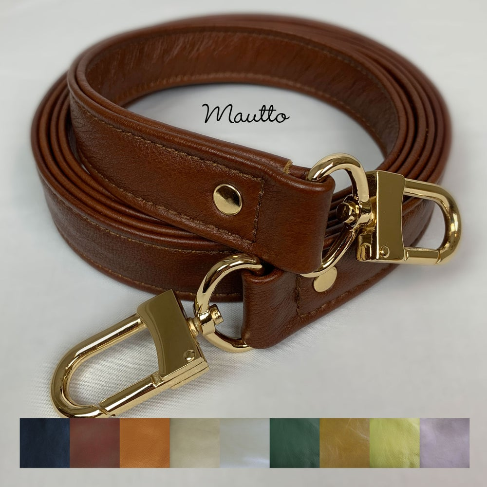 "Image of ON SALE! Genuine Leather Bag Strap - 1"" Wide with Gold #16XLG Clips - Choose Length & Leather Color"