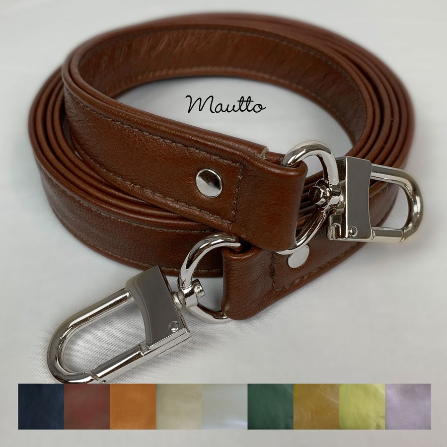 "Image of ON SALE! Genuine Leather Bag Strap - 1"" Wide with Nickel #16XLG Clips - Choose Length/Leather Color"