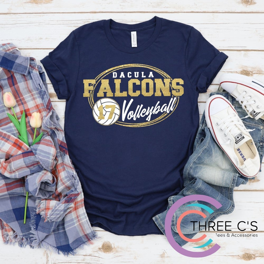 Image of Dacula Falcons Volleyball Tee