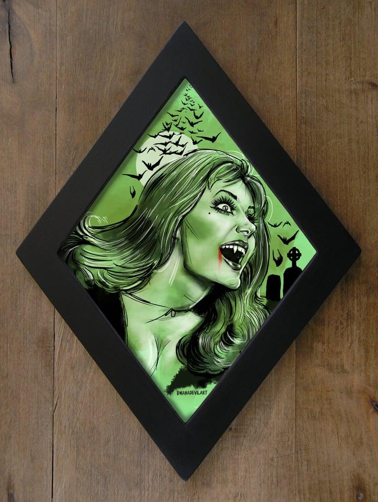 Image of Ingrid Pitt Limited Edition Diamond framed prints