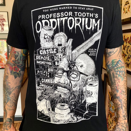 Image of Professor Tooth's Horror Tee Shirt