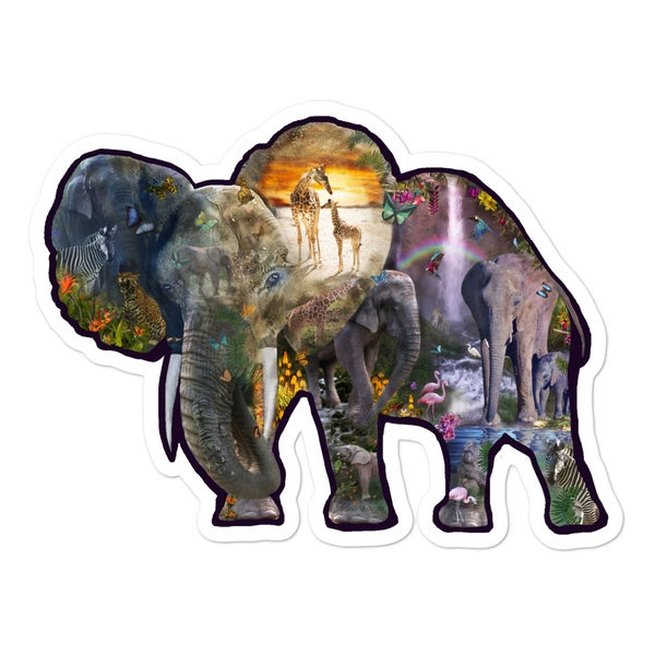 Image of Jungle Elephant Adventure Sticker