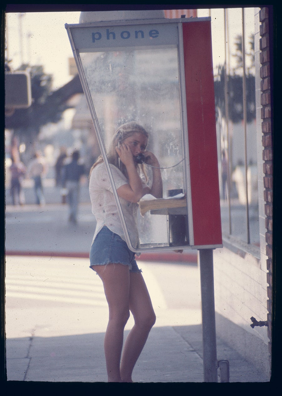 Image of Young Woman At A Payphone: 1975