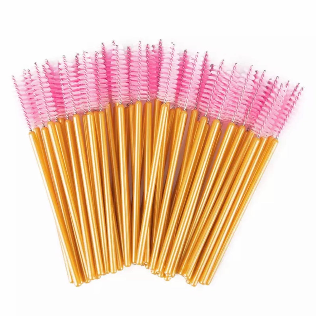 Gold/Pink Cosmetic Brush