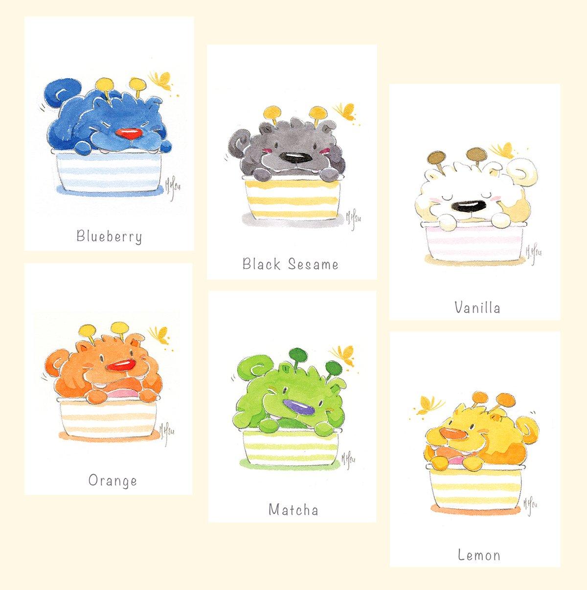 "Ice Cream Pups - 6 Pack | 5 x 7"" Prints"