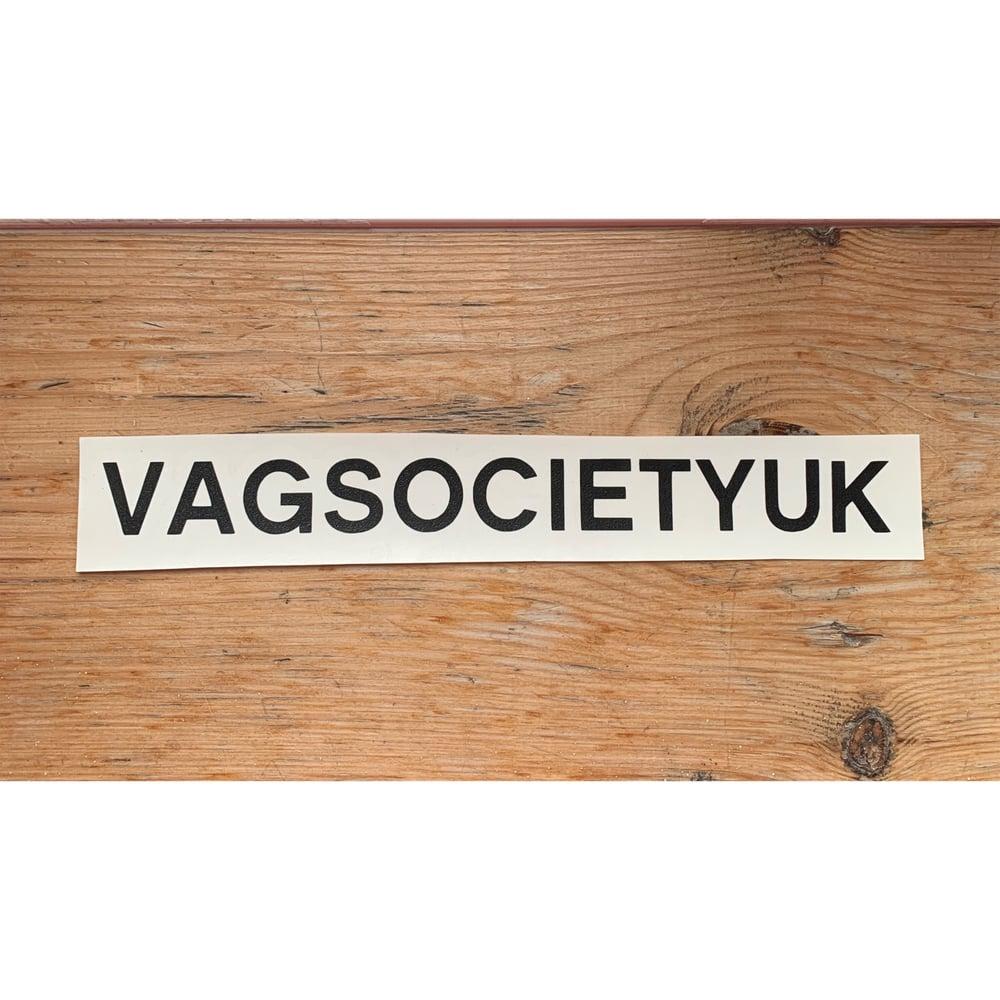 Image of VAGSocietyUK Name Sticker