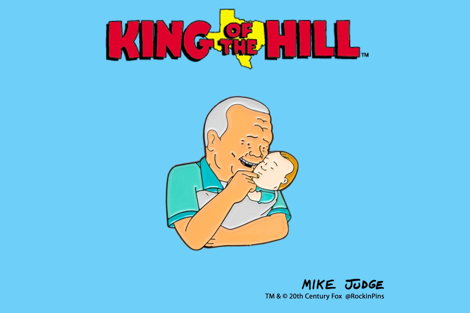 Image of King of the Hill - Cotton Hill and Good Hank Enamel Pin