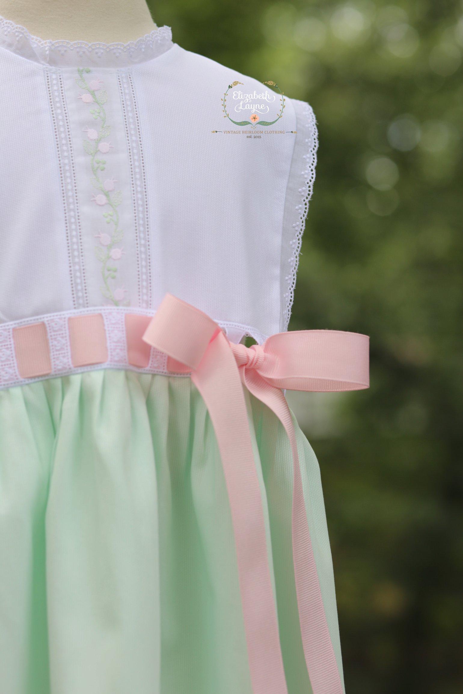 Image of Mint Heirloom Primrose Sunsuit & Dress