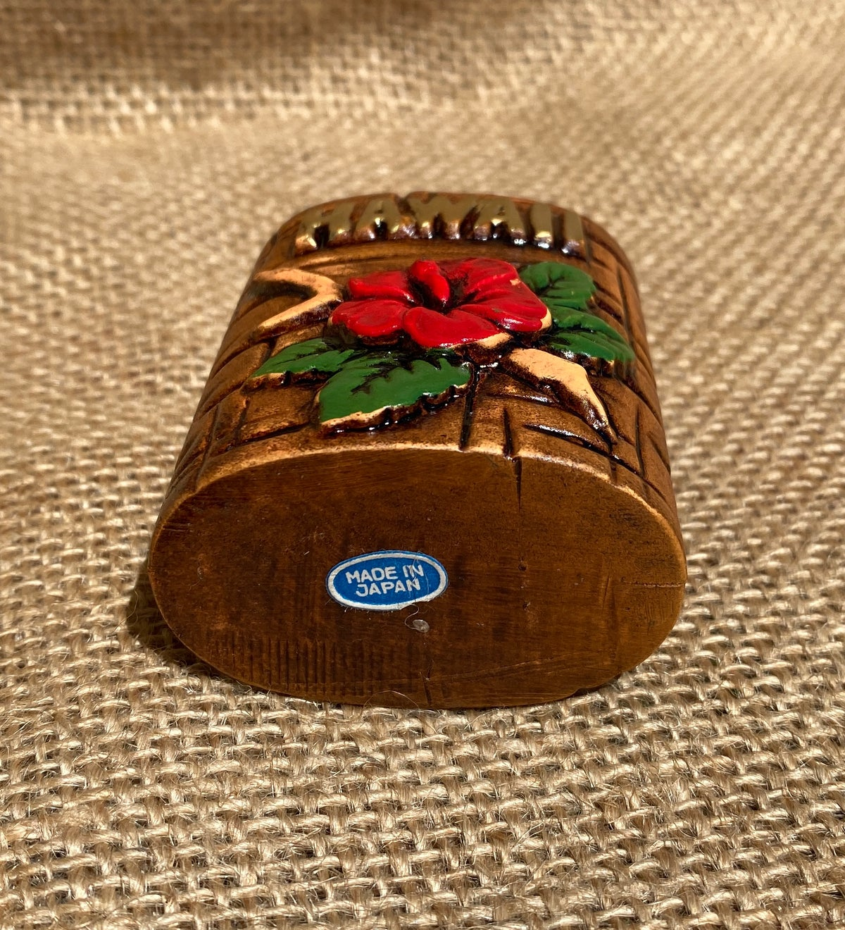 "Image of ""Hawaii"" Hibiscus Toothpick Holder"