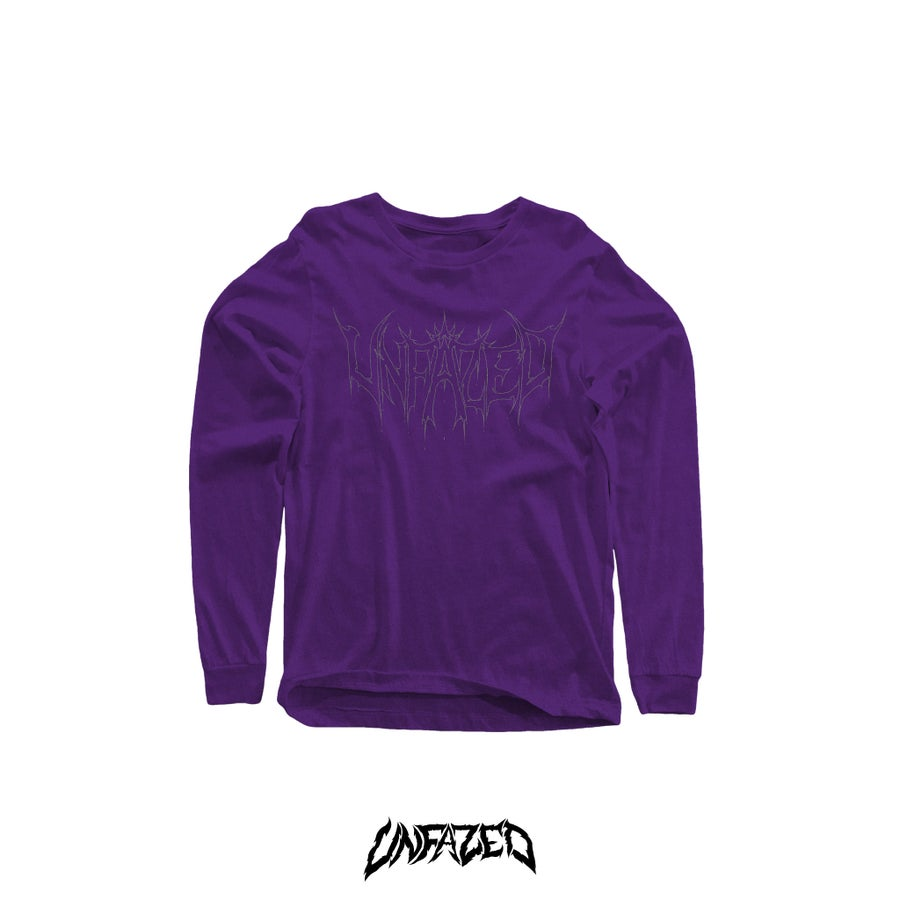 "Image of ""Phantom"" Long sleeve T shirt (Purple)"