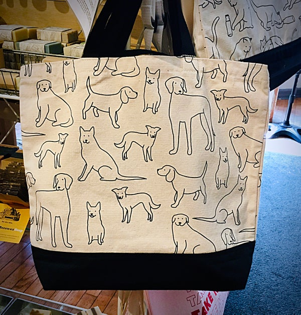 Image of Dogs Cotton Tote Bag