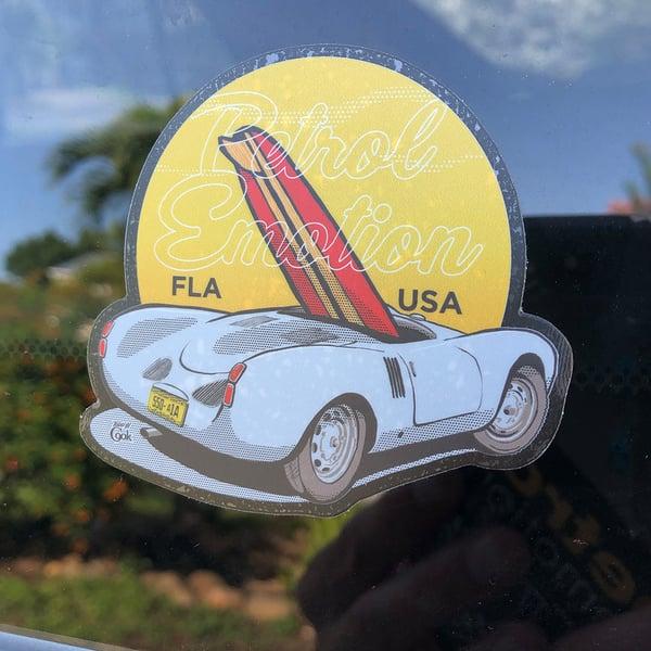 Image of Porsche 550 Spyder Surfboard Sticker
