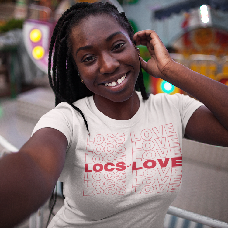 Image of LOCS OF LOVE WHITE TEE SHIRT