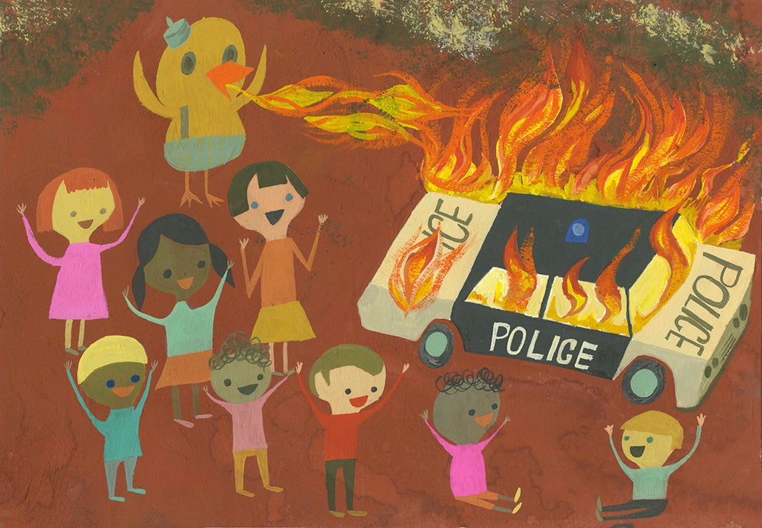 Image of Duck the Police. Limited edition print.