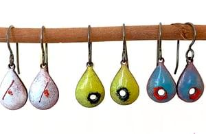 Teardrop Enamel Earrings