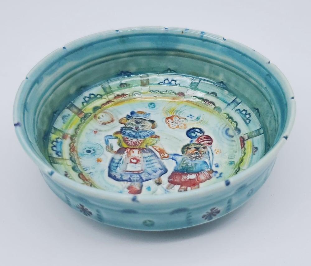 Image of Celebration Kitty Porcelain Dish