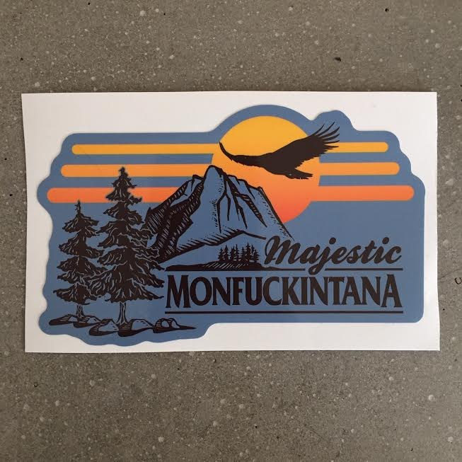 Image of New! Majestic Monfuckintana Sticker (teal)