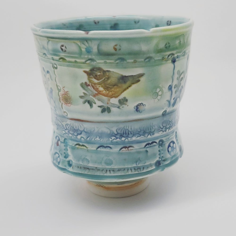 Image of Porcelain Songbird Tea Tumbler