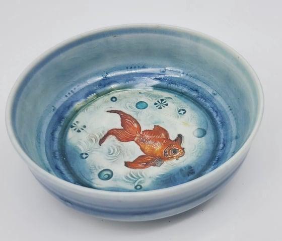 Image of Small Koi Porcelain Dish