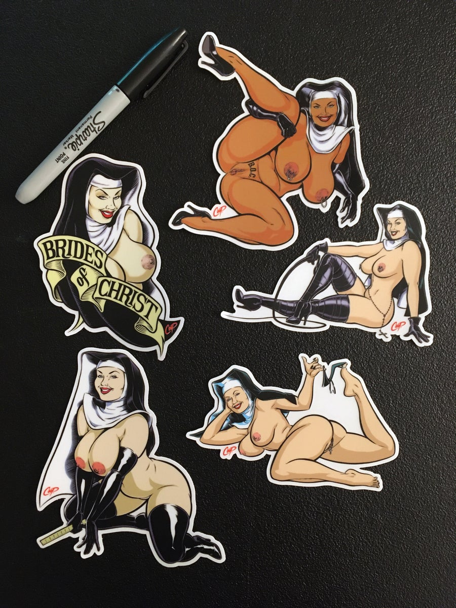 "Image of COOP Sticker Pack #14 ""Naughty Nuns"""