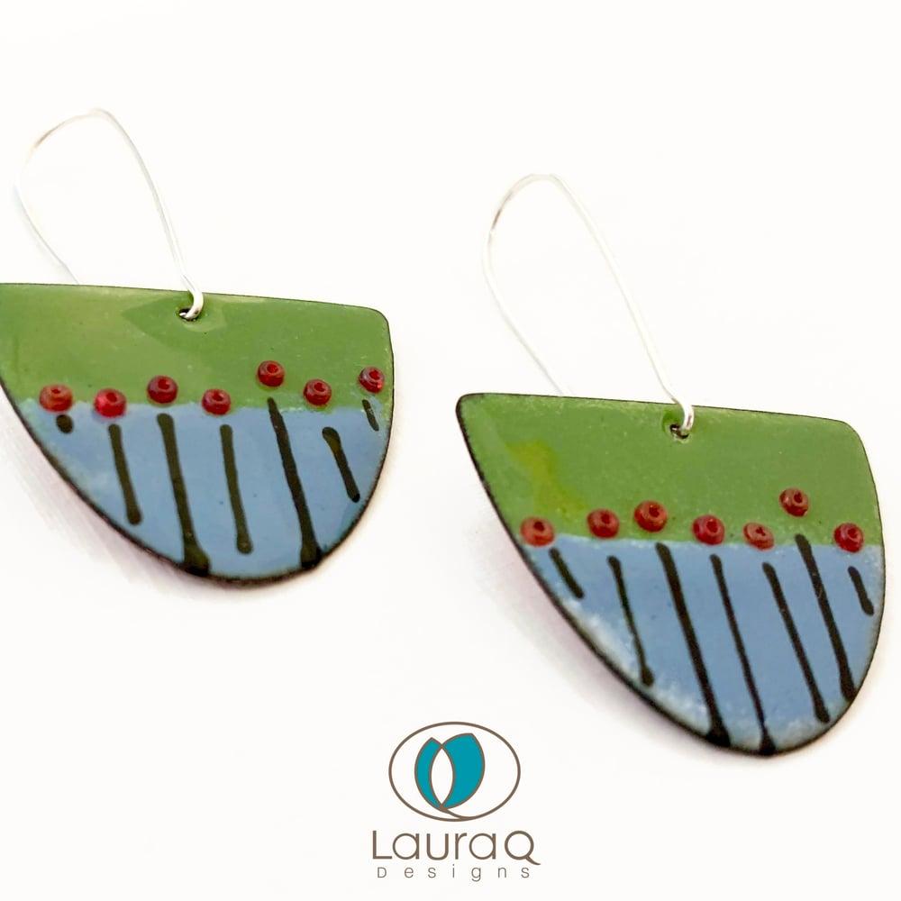 Blue Fields Earrings