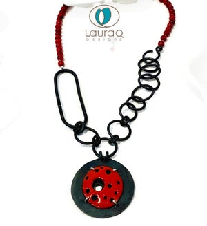 Red Craters Necklace