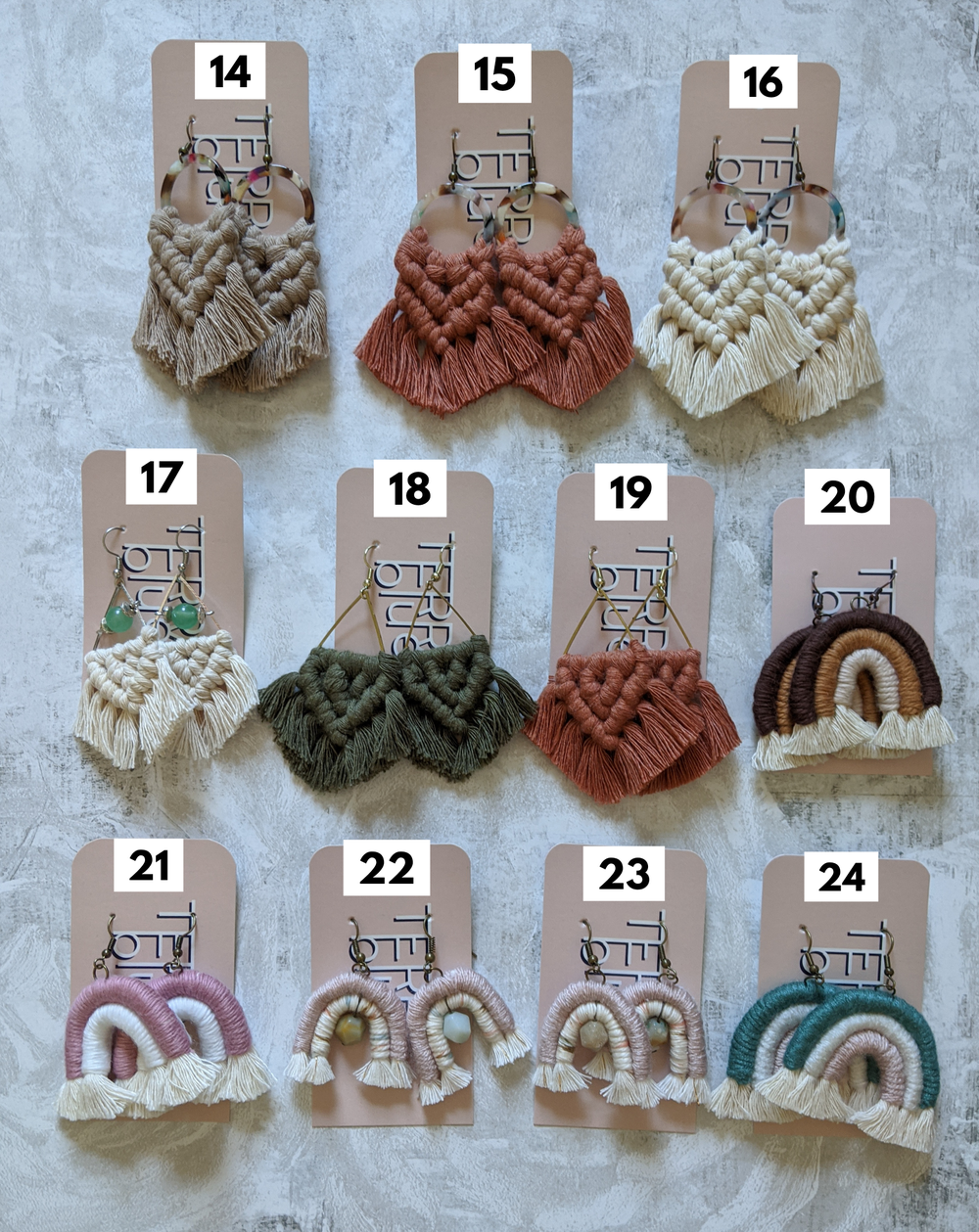 Image of SUMMER SALE + FREE SHIPPING: Macrame Earrings (cont.)