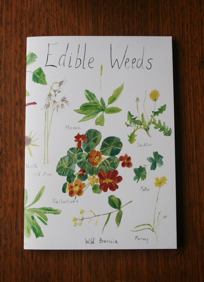 Image of Edible Weeds ~ Blank A5 Notebook