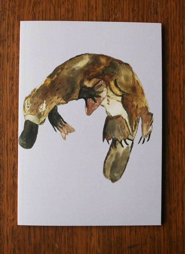 Image of Platypus ~ Blank A5 Notebook