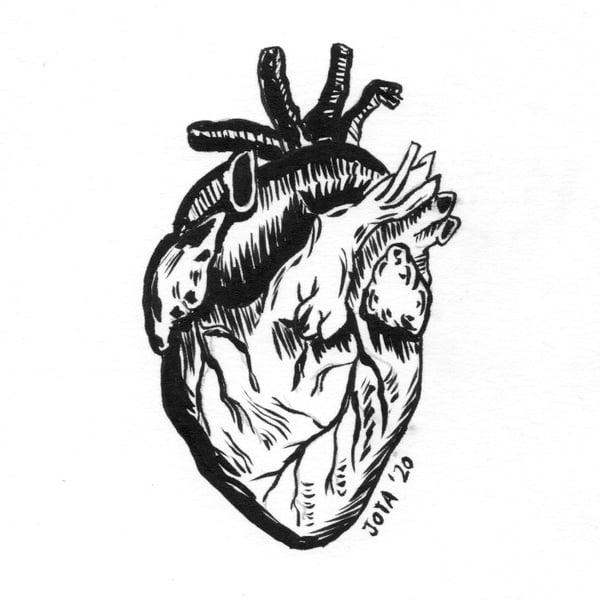 Image of Corazón a tinta negra