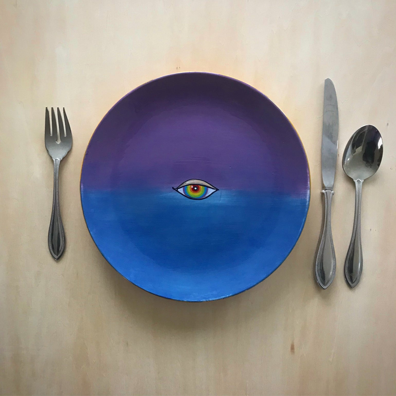 Image of Like painting plates.