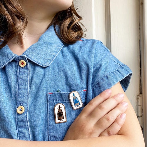 Image of Welsh Lady Pin Badges