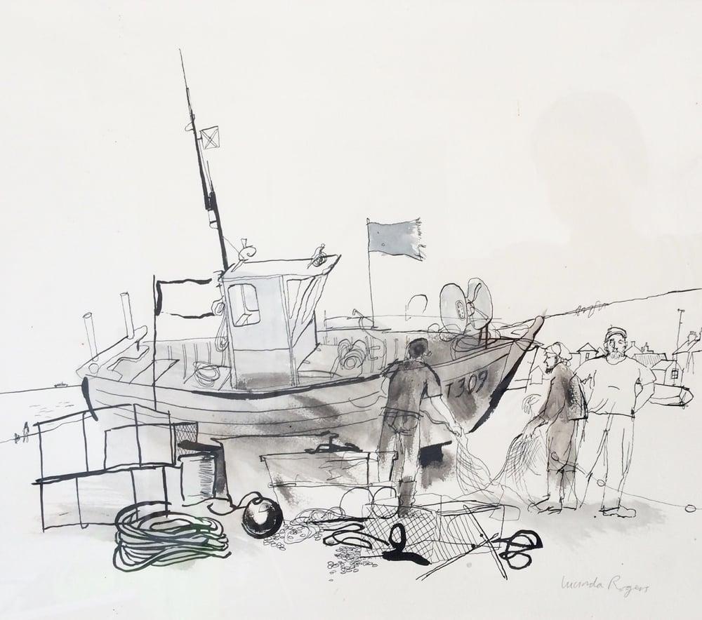 Image of Aldeburgh fishing boat 1992