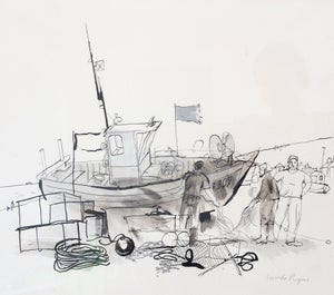 Image of Aldeburgh fishing boat 1992