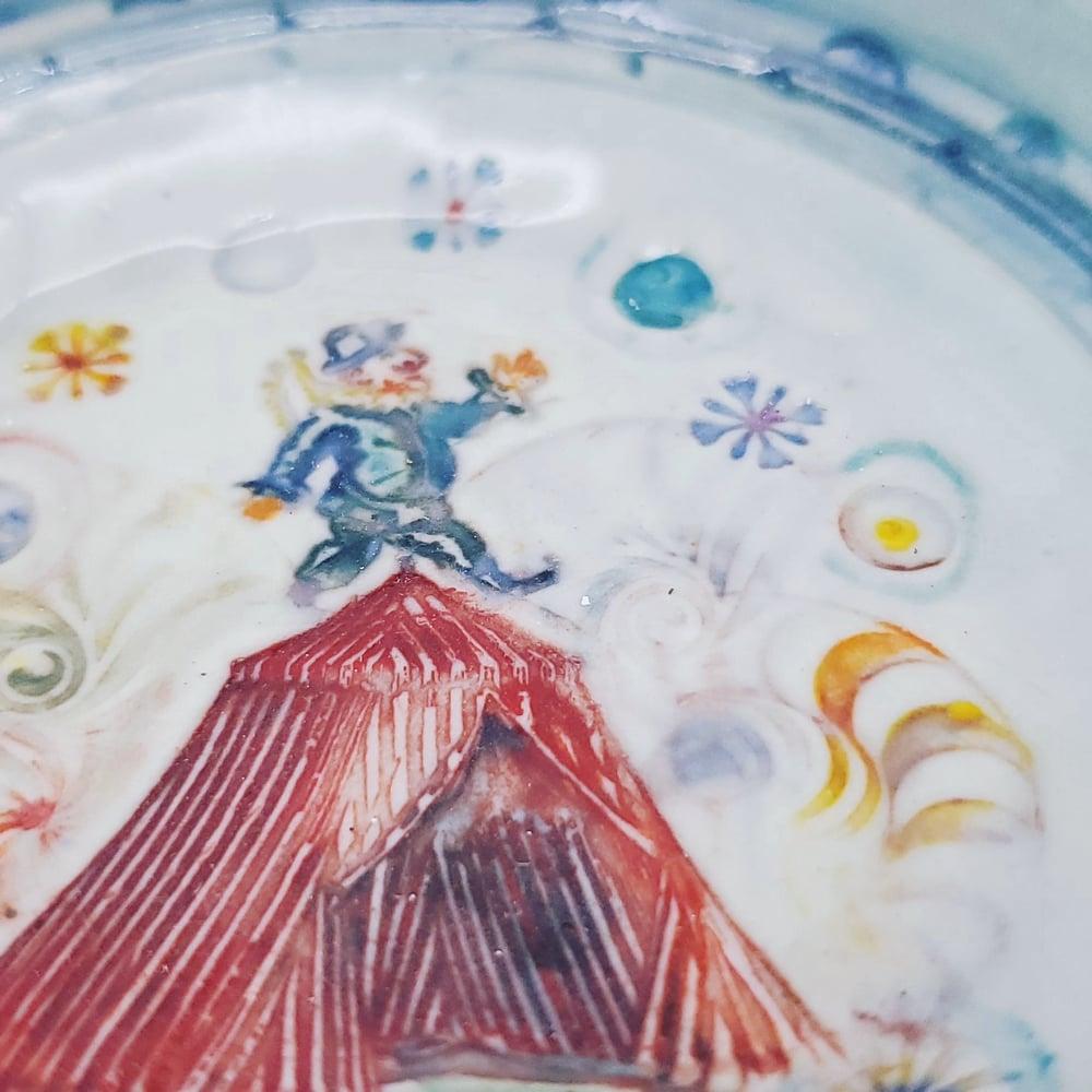 Image of Balancing Punch Porcelain Dish