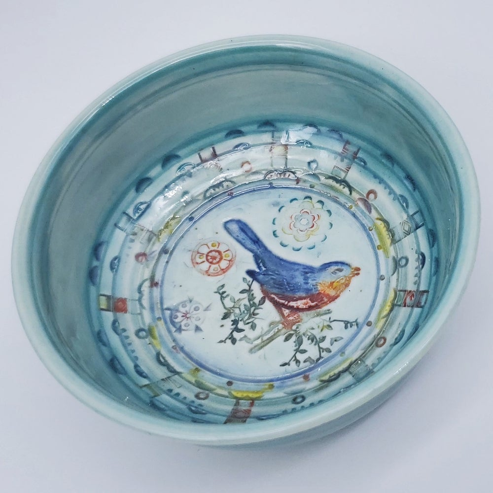 Image of Bluebird Porcelain Dish