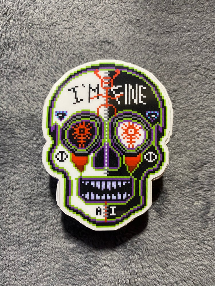 "Image of Ghostemane ""I'm Fine"" (Limited Edition) Sugar Skull Sticker"