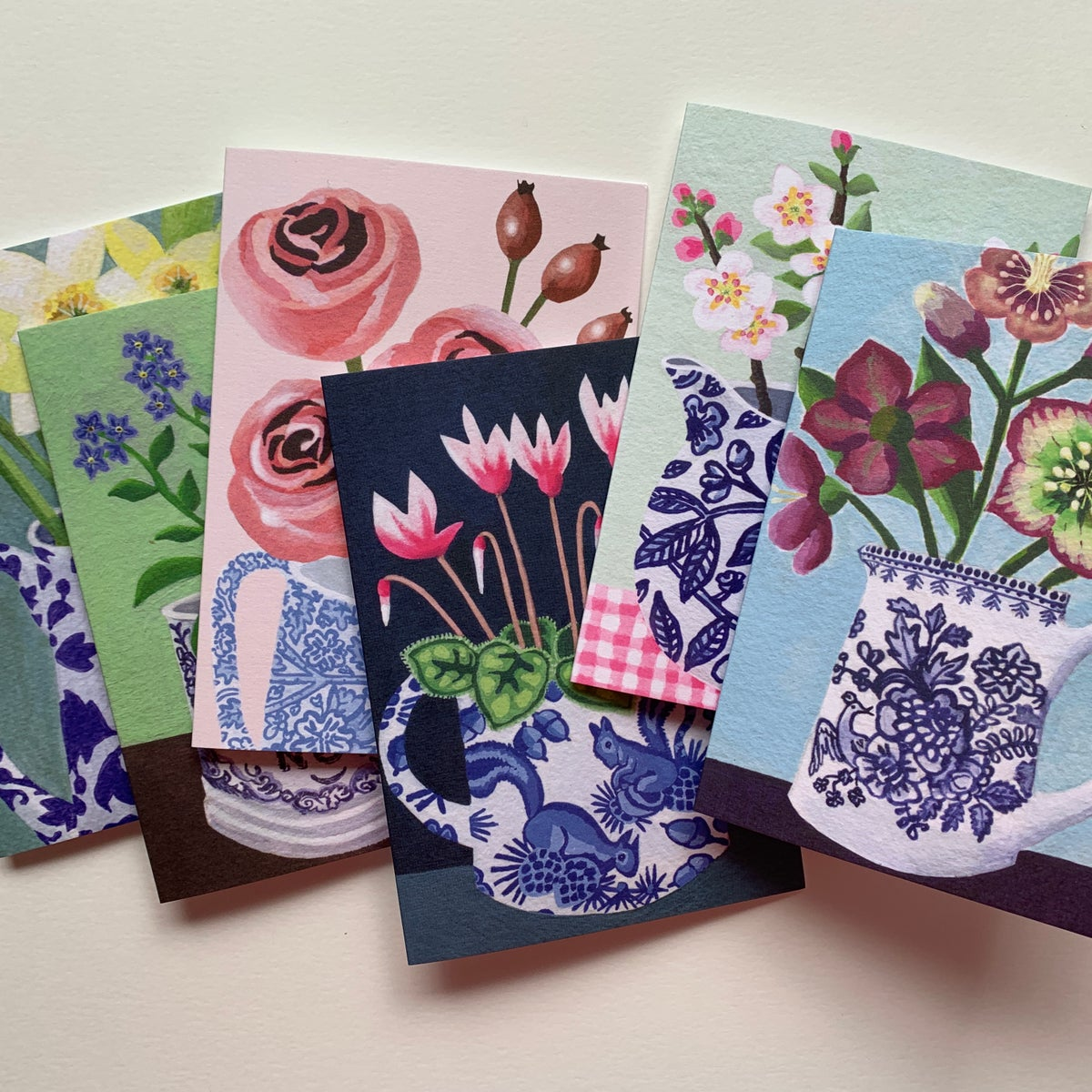 The Blue & White China Collection 6 Card Bundle