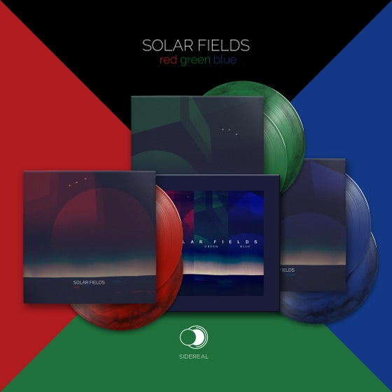 "Image of Solar Fields ""R.G.B"" 3x doubleLP (marble vinyls) + Cardboard Box"