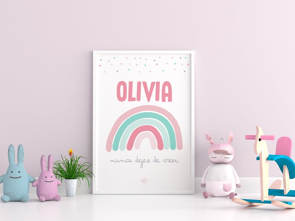 Image of Lámina Arcoíris Personalizada - Modelo Olivia