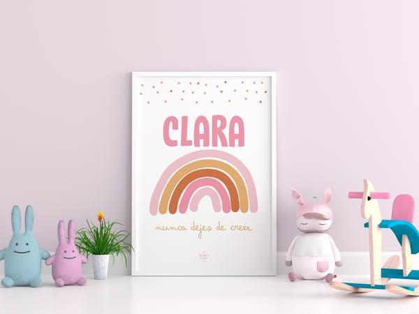 Image of Lámina Arcoíris Personalizada - Modelo Clara