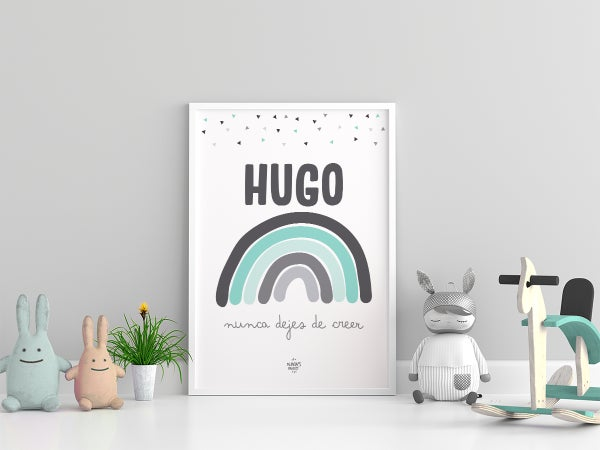 Image of  Lámina Arcoíris Personalizada - Modelo Hugo