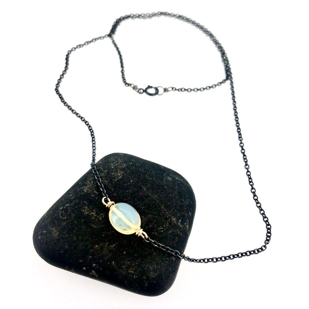 Image of Ethiopian opal gemstone necklace