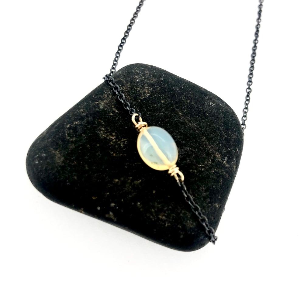 Image of Ethiopian opal gemstone necklace