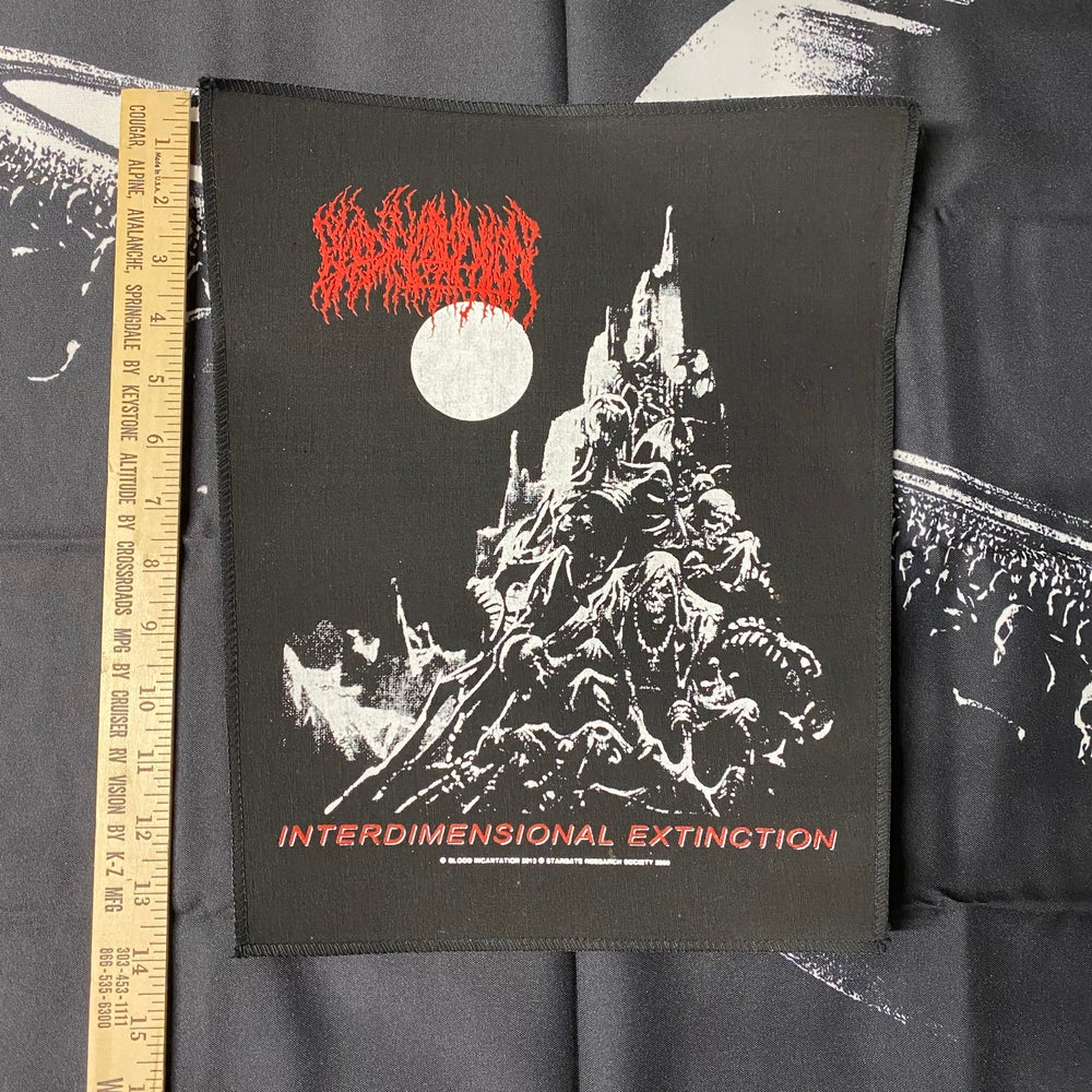 Image of Screen Printed - 'Interdimensional Extinction' Back Patch