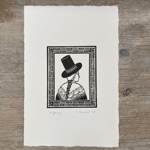 Image of 'Myfanwy' Linoprint